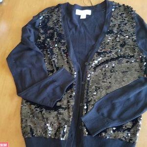 Michael Kors sequin black sweater